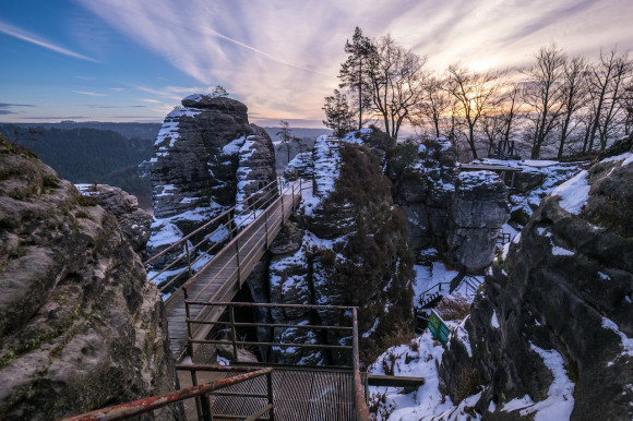 The Narnia Labyrinth and Bastei with mulled wine